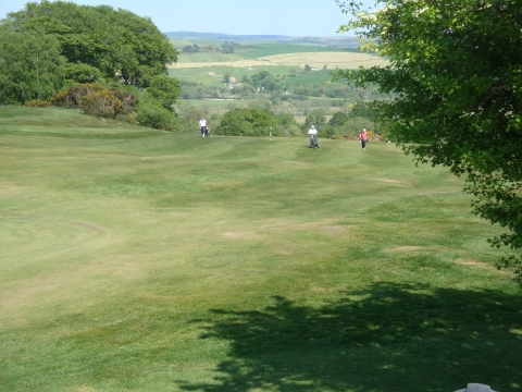View down from Second Green