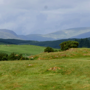View of hills from New Galloway Golf Course